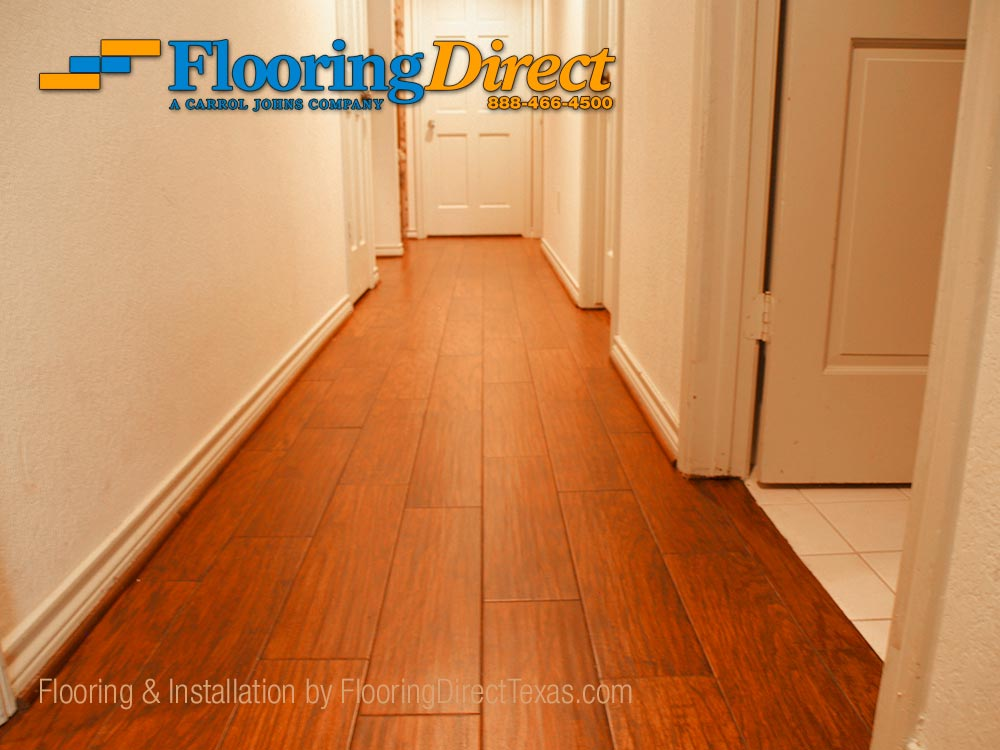 Wood Look Tile Installed In Arlington Residence By Flooring Direct